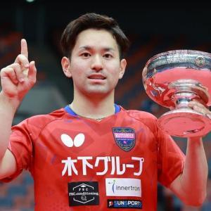 全日本卓球選手権2021,男子シングル優勝。