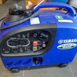 発電機 YAMAHA EF900is オイル交換 プラグ交換  燃料添加剤投入