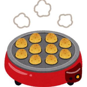 たこ焼き器でピザを作りました。