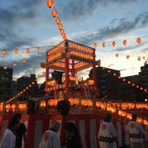 中央区大江戸祭り 盆踊り 初日 2019年8月23日