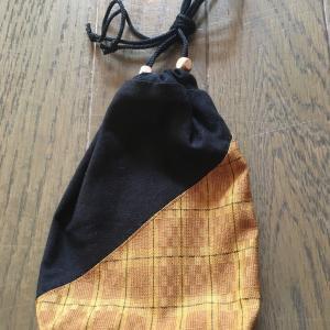 大江戸 盆踊り大会 2019年8月24日 黄八丈の巾着