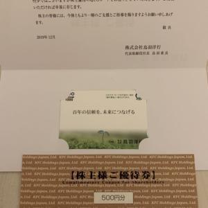 鳥羽洋行(7472)、日本KFC(9873)株主優待