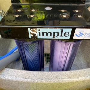 浄水器のカートリッジ交換と1号水替え。