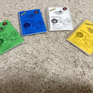 先日購入したバインダー式のメモ帳が届いた