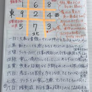 ★おやすみ前のノートから  9月28日(月)あくせくしたってしょうがない日もあるさ★