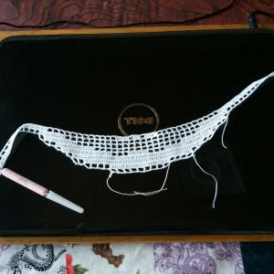 レース編み 始めました