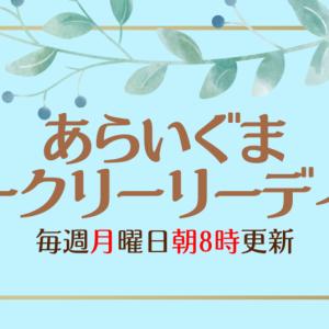 あらいぐま🦝ウィークリーリーディング💗2021/09/27(MON)~10/03(SUN)