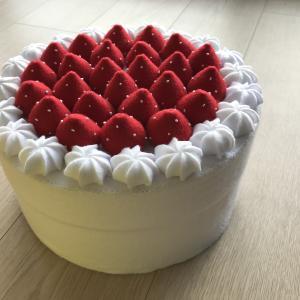 ケーキ、できあがってきました♡