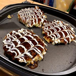 お好み焼きとルタオのケーキ+α