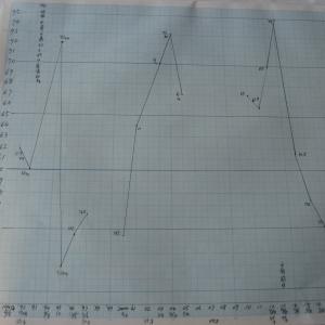 水は1日1.2L~1.5Lと私の30年の体重推移グラフ