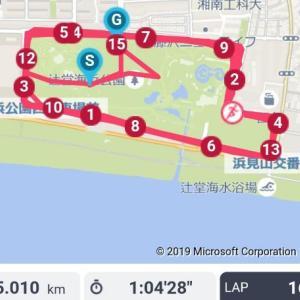 Mペース15k・水戸マラソン1週間前練習