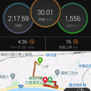 秋を感じる30km走