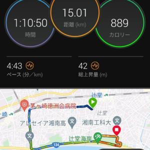 E→Mペース15km・セット練的なラン