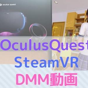 【OculusQuest】SteamVRゲーム+DMM動画に無料で対応する方法!