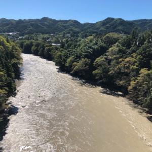 台風19号一過… 近所の多摩川は濁流でした。ラグビー日本 明るいニュースを届けてくれました!