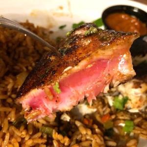 テネシー州の西の外れMartinのBlue Oak Oyster Bar and Grillに行ってきた。Blackened Tunaはかなりお勧め!