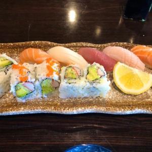 Oishiya hibachi & sushi で昼食。価格が手頃で味もリーズナブルでした。