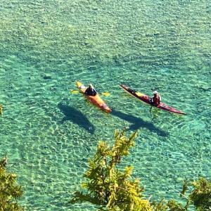 ヒューロン湖の透明度は世界屈指。マッキナック島のArch  Rockからその凄さがわかりました。