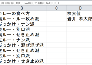 VLOOKUP関数とINDEX&MATCH関数の熱き戦い