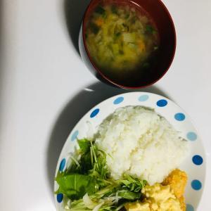 今日の晩ご飯ー白身魚のタルタルソースがけー