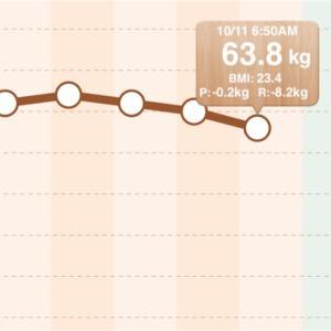 10月10日ダイエット体重・日記