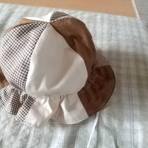 赤ちゃんの帽子完成(^o^;)