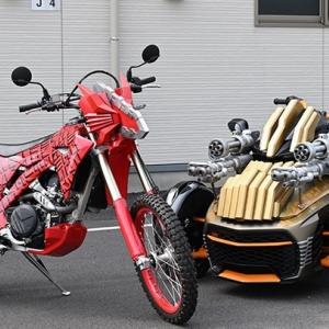 仮面ライダーセイバーが使用するバイクのベース車は何?ブレイズの3輪バイクは?