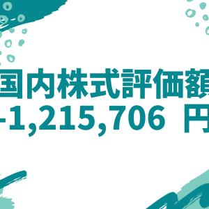 国内株式評価額-1,215,706円