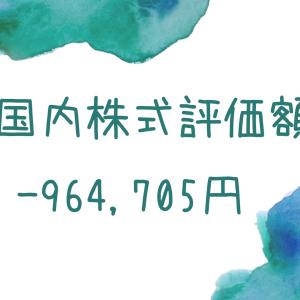 国内株式評価額-964,705円