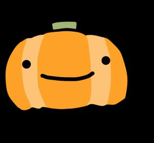 『ハロウィンのかぼちゃ』 手書き かわいい ゆるい 顔 パンプキン オリジナルデジタルイラスト