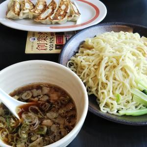 幸楽苑のつけ麺と餃子