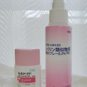 皮膚保湿剤のスプレー