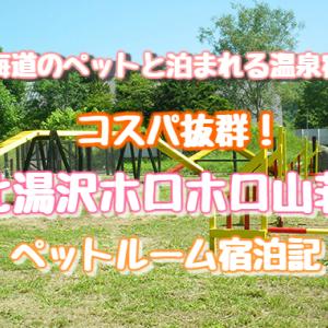 北海道のペットと泊まれる宿☆コスパ抜群!北湯沢『ホロホロ山荘』宿泊記