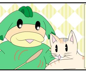 日常まんが:猫様の遊び