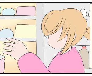 日常まんが:冷蔵庫の掃除をする腐女子