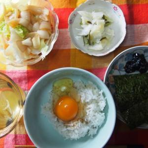 今朝は卵かけご飯!(^^)
