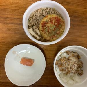 禁酒1日目 緑のたぬきと納豆ご飯