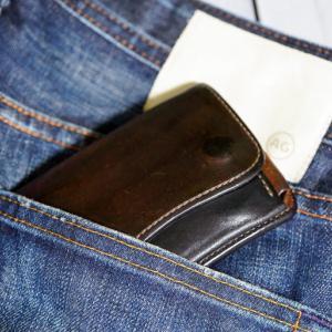 WILDSWANS のミニ財布「タング Tongue」6年モノのエイジング感