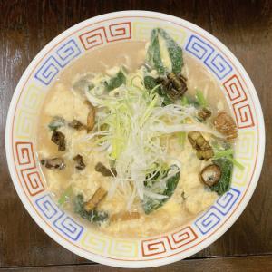 餃子と麺 いせのじょう 桑園高架下店@桑園 卵とじラーメン