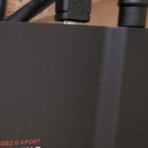 USBハブを使ってレグザのテレビに2台のハードディスクを接続