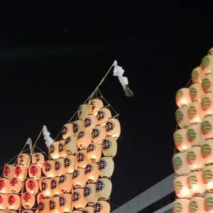 秋田の竿燈まつり