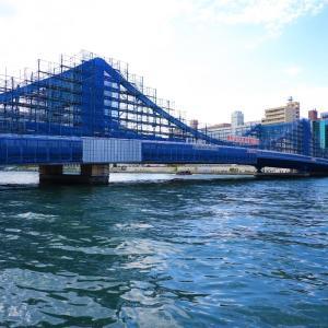 清洲橋は工事中でもやっぱり清洲橋だった