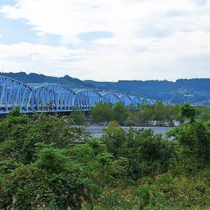 大井川橋、青い17径間も綺麗なんだけど、橋脚のアーチがお気に入り