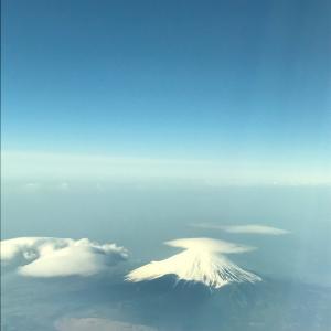 今日の富士山と空