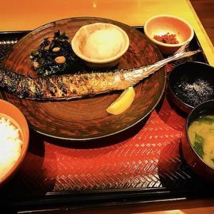 """大きい!大戸屋さん  """"生さんまの炭火焼き定食"""" の秋刀魚"""