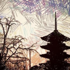 好きだから..描く-50 ~  京都の朝