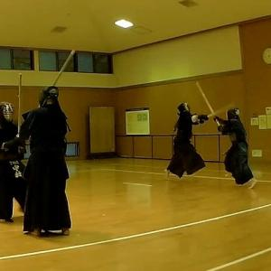 宝剣会定例稽古(生駒市武道館2020年8月8日)