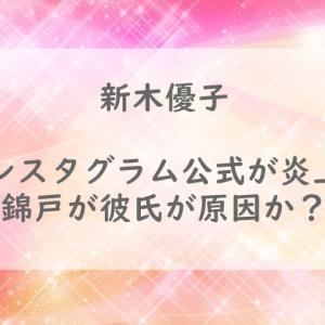 新木優子インスタグラム公式が炎上?錦戸が彼氏が原因か?