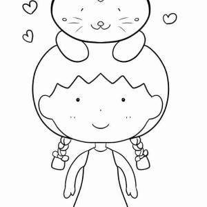可愛い猫ちゃんとベストフレンド!10月14日の新着塗り絵です。