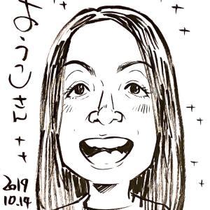 絆画(きずなえ)作家・大村順さんに似顔絵を描いていただきました